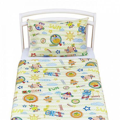 Комплект постельного белья для дошкольников (2 предмета) Monkey