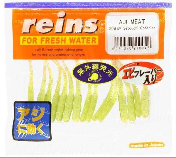 "Приманка Reins AJI Meat 1.5"", в уп. 15шт. #209 UV Setouchi Greenish"