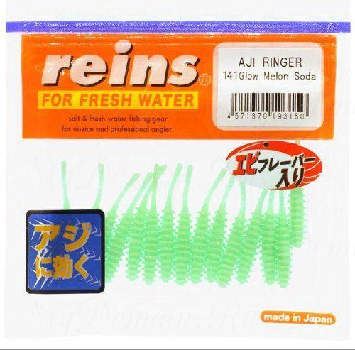 """Приманка Reins AJI Ringer 1.5"""", в уп. 15 шт. #141 Glow Melon Soda"""