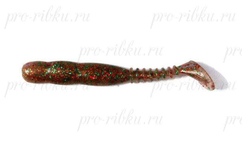 """Виброхвост Reins RockVibe Shad 3,5"""", в уп. 8 шт. #406 Boil Shrimp"""