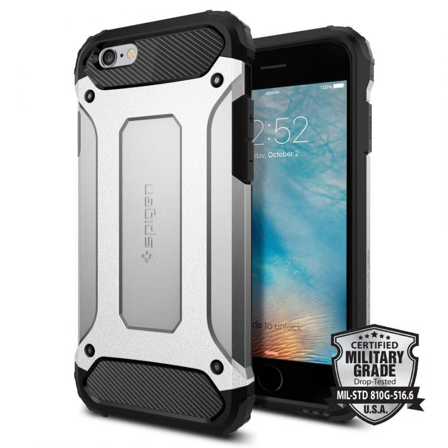 Чехол Spigen Tough Armor Tech для iPhone 6/6S серебристый
