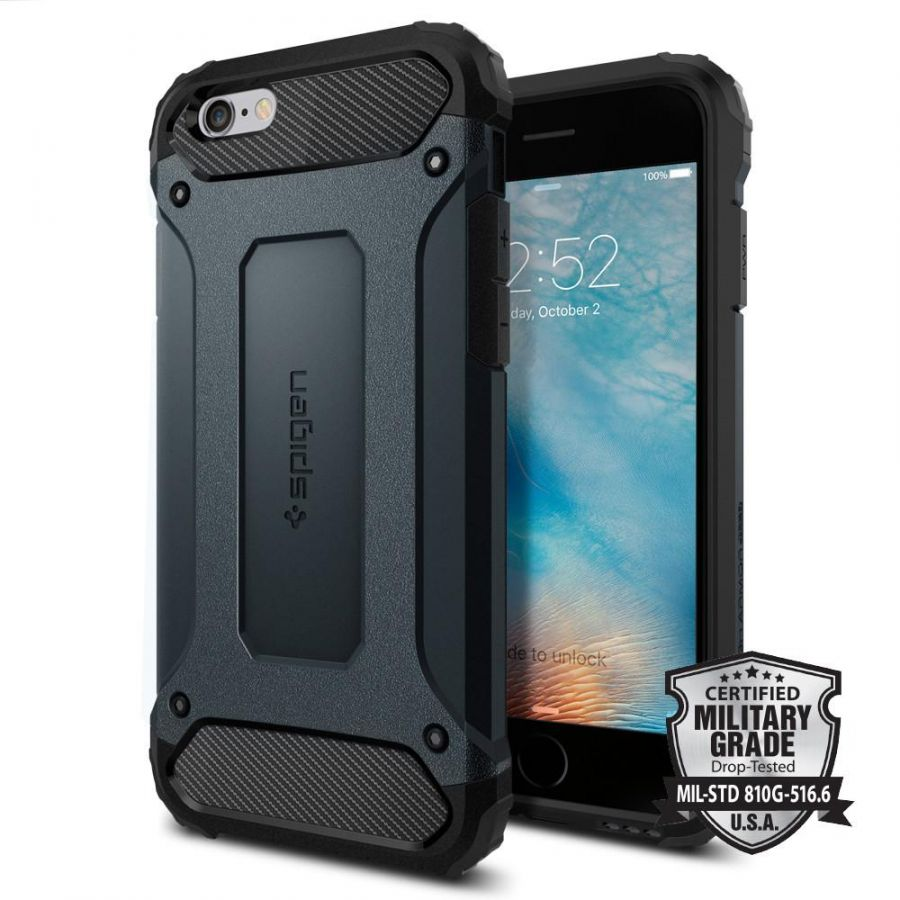 Чехол Spigen Tough Armor Tech для iPhone 6/6S синий металлик