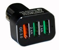 Автомобильное зарядное устройство на 3 USB порта Qualcomm Quick Charge 3.0 (5V-4.8A, QC 18Wmax)