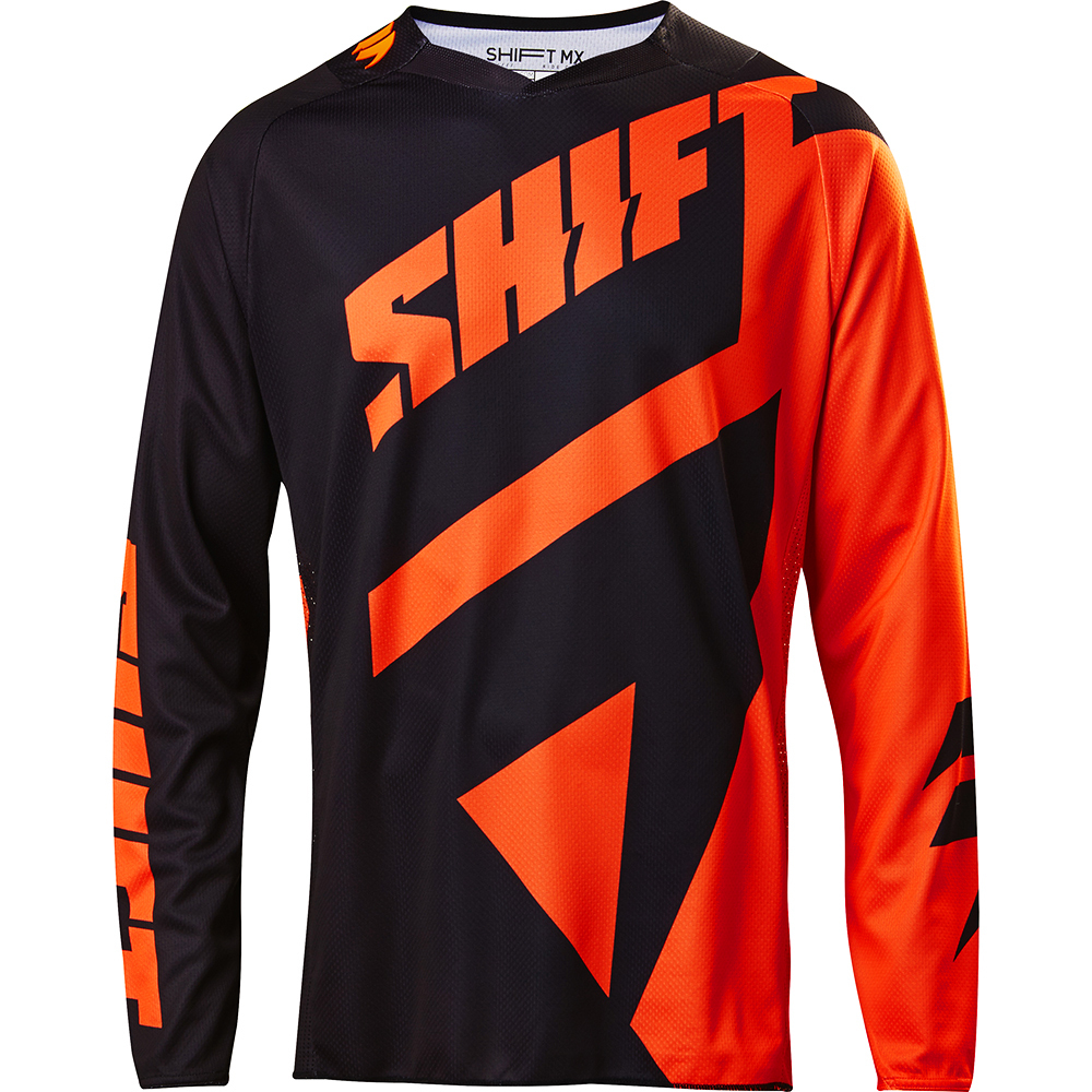 Shift - 2017 3LACK Mainline джерси, черно-оранжевое