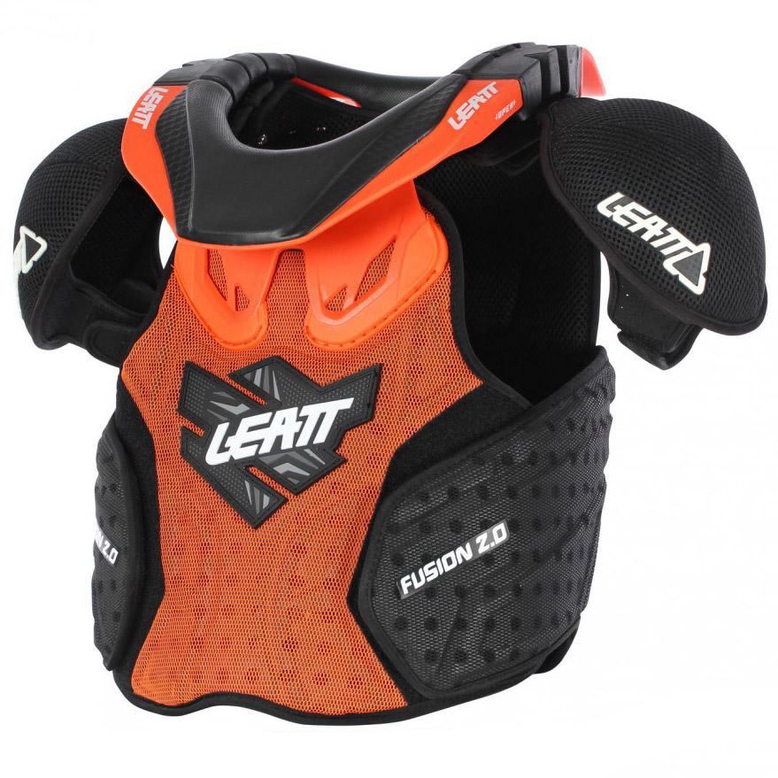 Leatt - Fusion 2.0 Vest Junior защита торса (панцирь, шея) подростковая, оранжево-черный