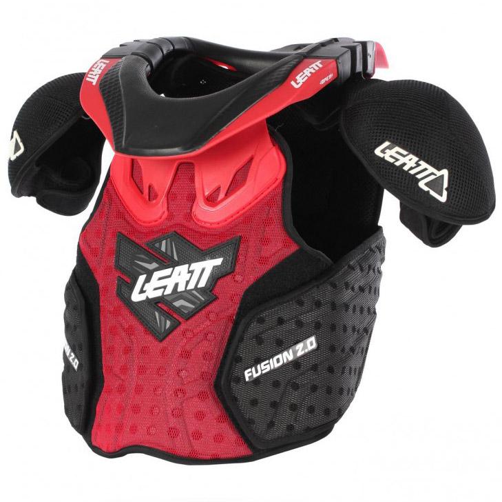 Leatt - 2017 Fusion 2.0 Vest Junior защита торса (панцирь, шея) подростковая, красной-черная