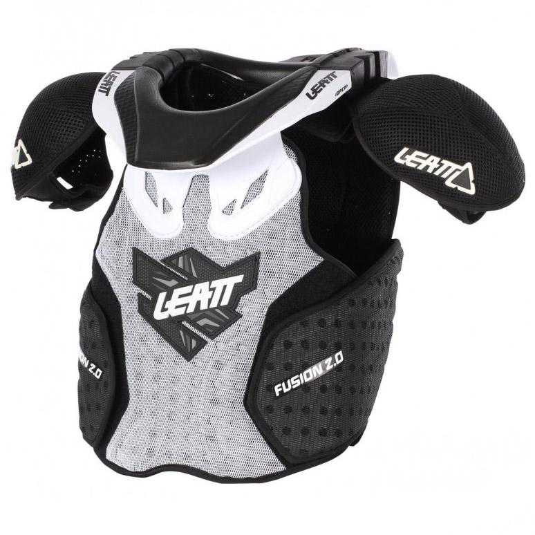 Leatt - 2017 Fusion 2.0 Vest Junior защита торса (панцирь, шея) подростковая, бело-черная