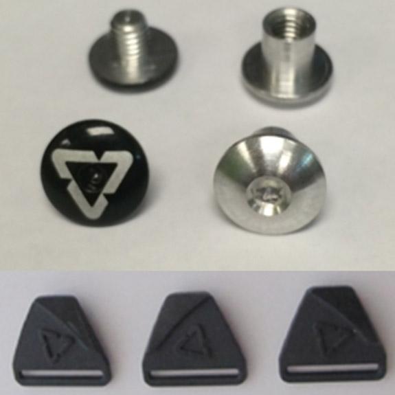 Leatt - Dual Axis Buckle & Bolt Pack крепеж для защиты c ключом, черный