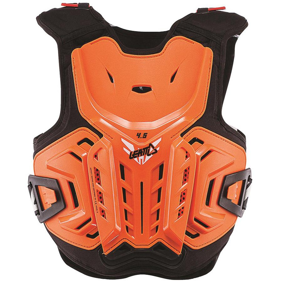 Leatt Chest Protector 4.5 Junior Orange/White защита торса подростковая, оранжево-белая