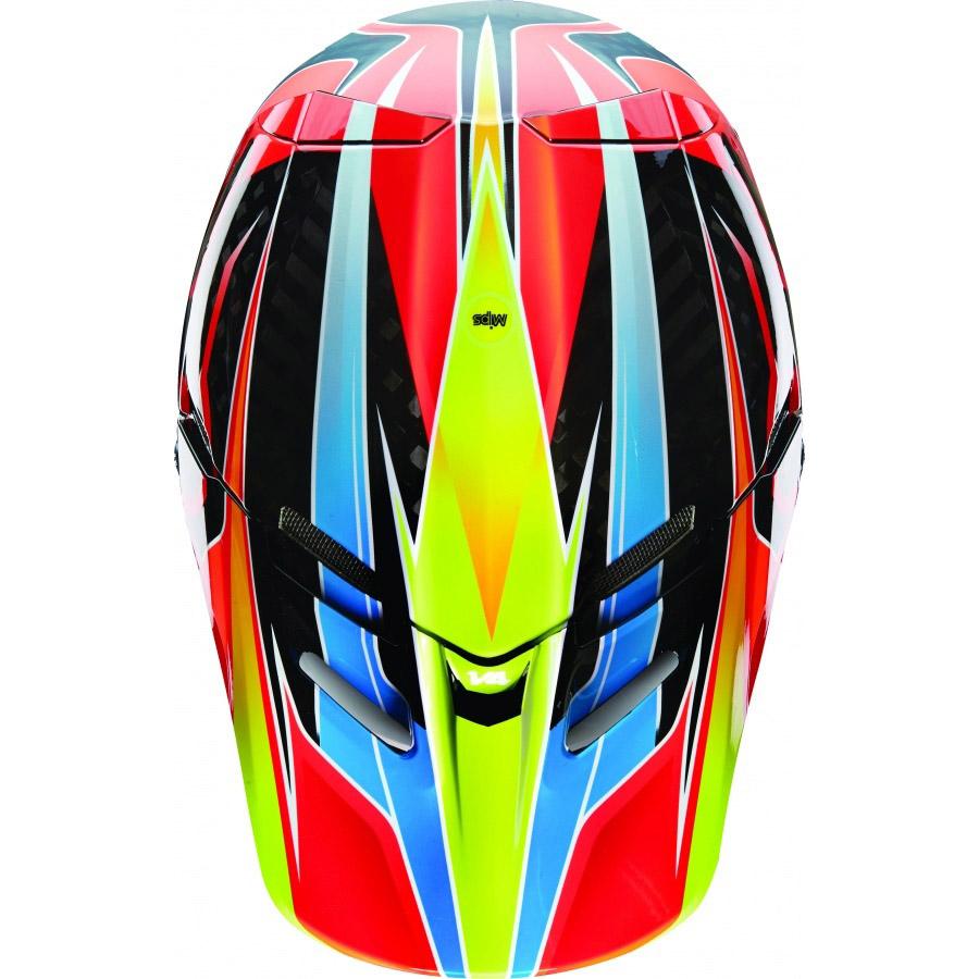 Fox - V4 Race козырек к шлему, сине-красный