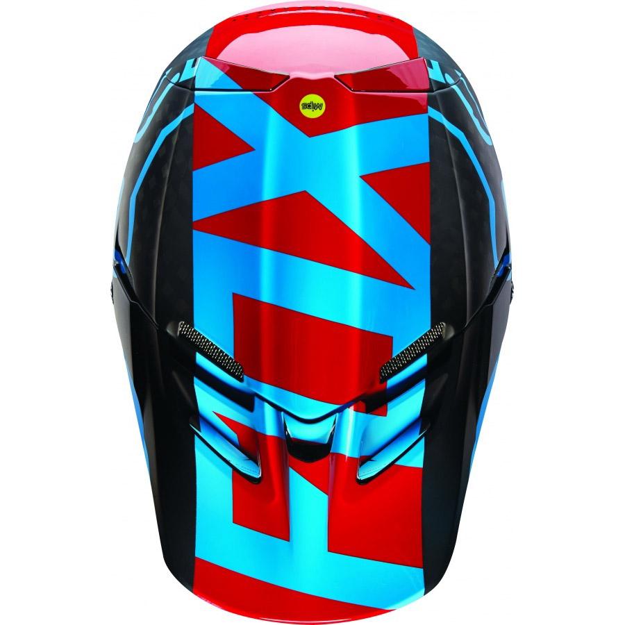 Fox - V4 Libra козырек к шлему, синий