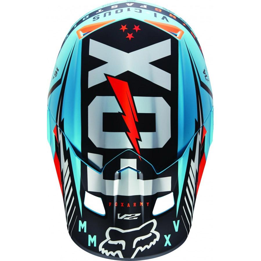 Fox - V2 Vicious козырек к шлему, синий