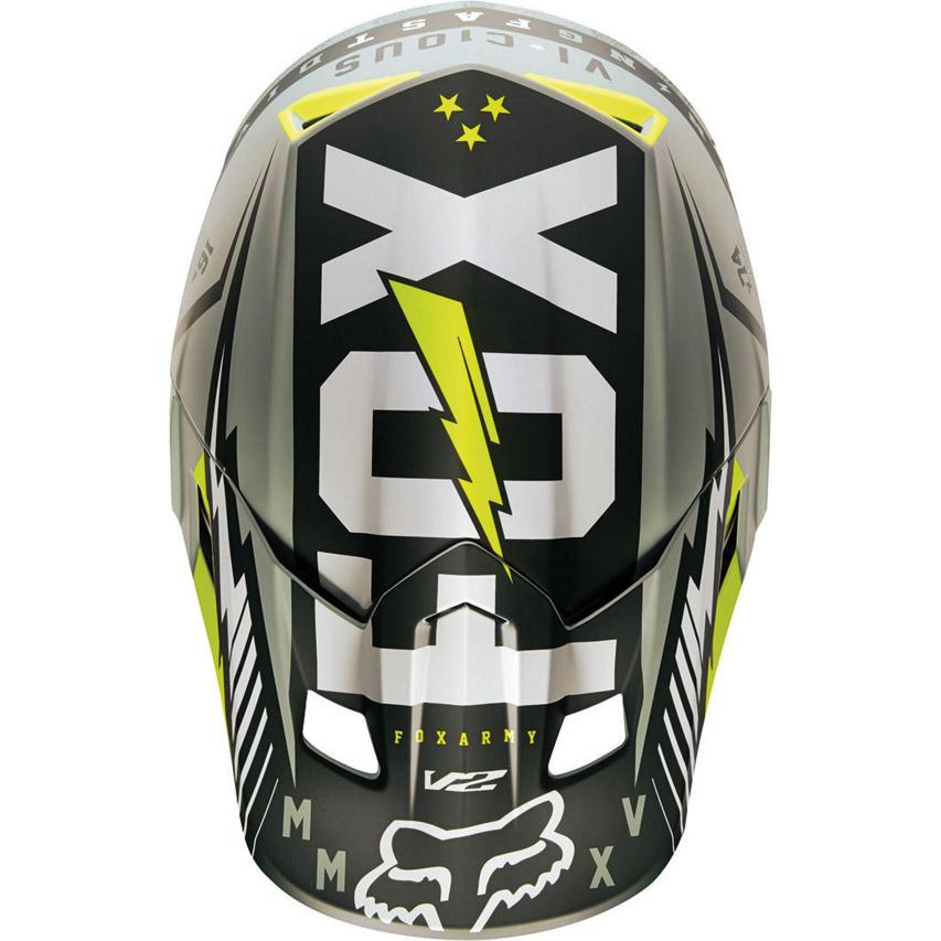 Fox - V2 Vicious козырек к шлему, зеленый