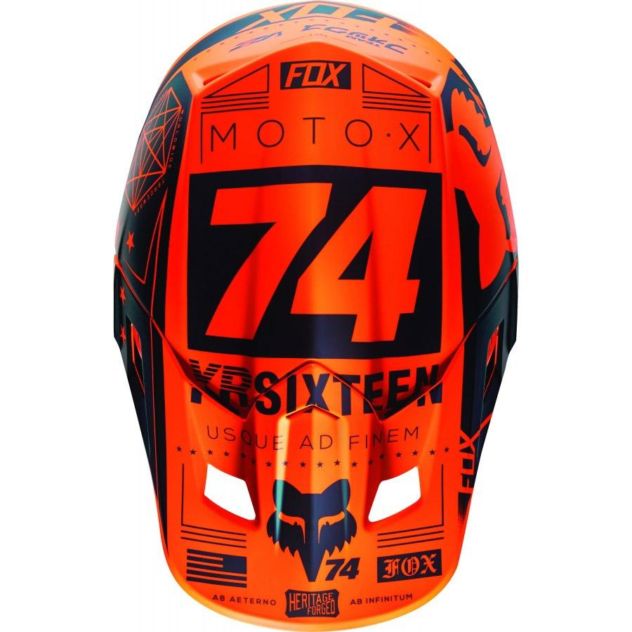 Fox - V2 Union козырек к шлему, оранжевый