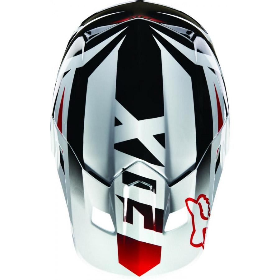 Fox - V2 Race козырек к шлему, красно-белый