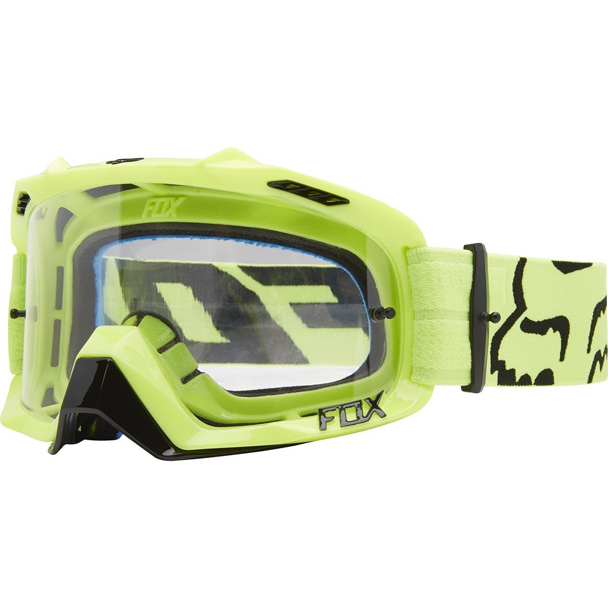 Fox - AIR DEFENCE Race Flo Yellow очки, прозрачная линза
