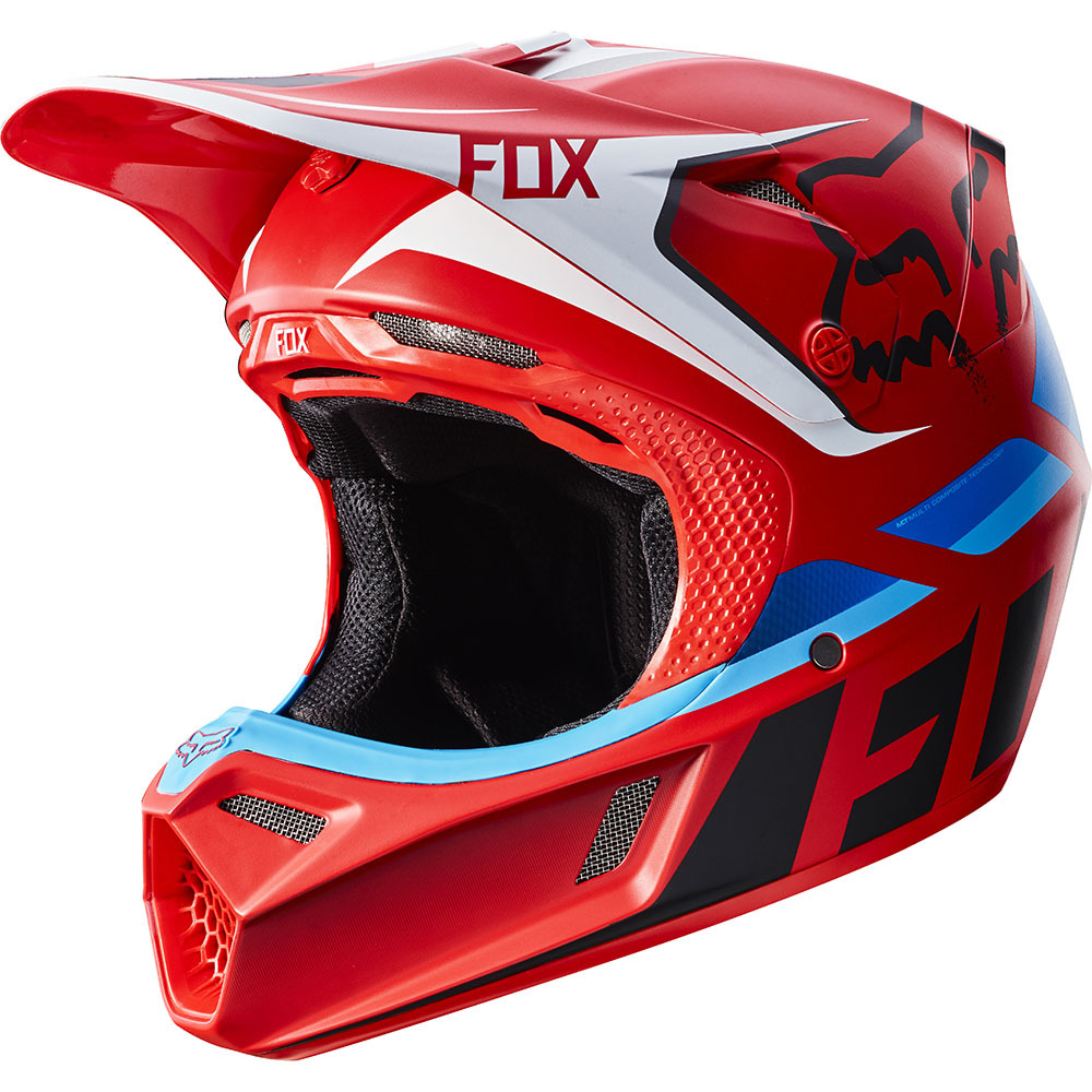 Fox - V3 Seca шлем, красный