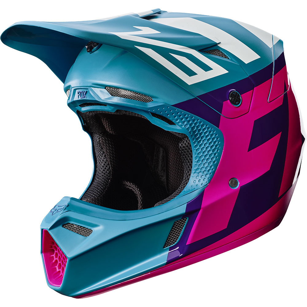 Fox - 2017 V3 Creo шлем, сине-зеленый