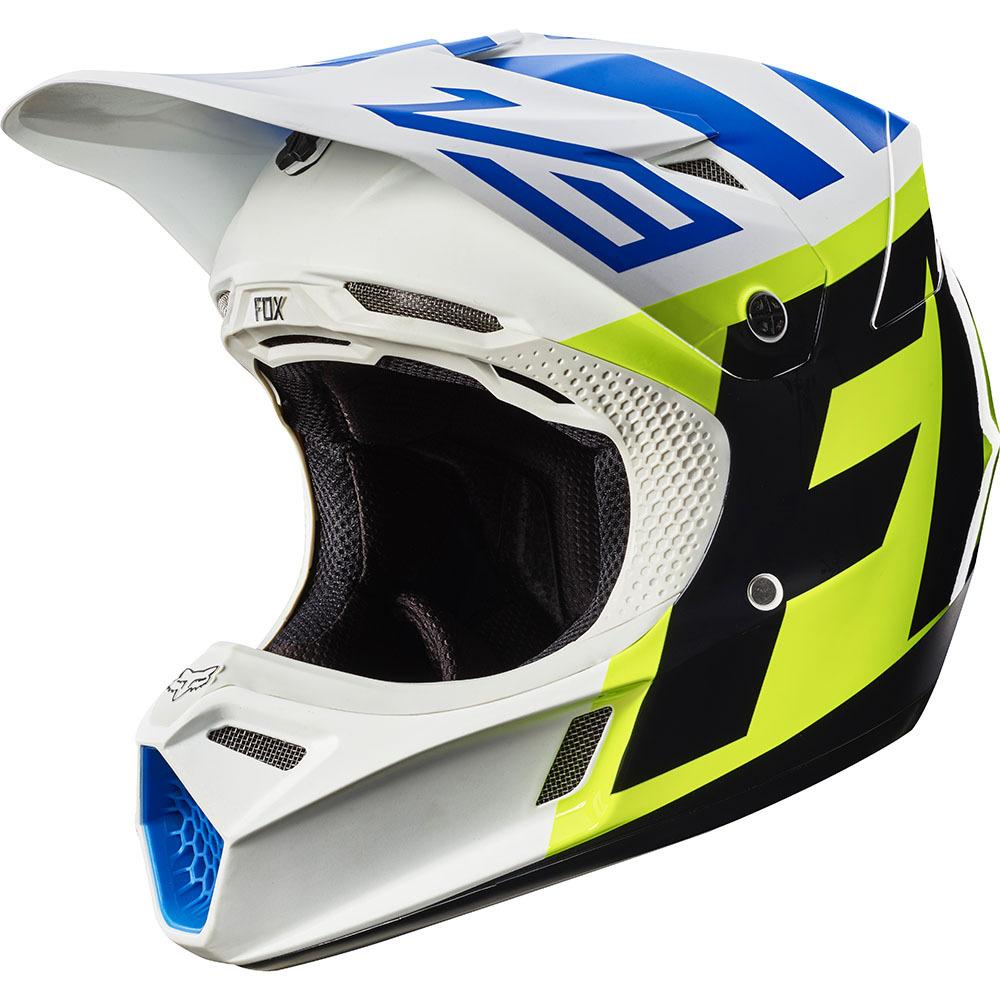 Fox - 2017 V3 Creo шлем, бело-желтый