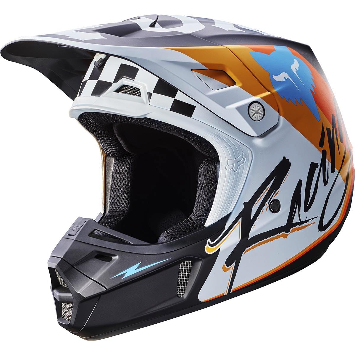 Fox - 2017 V2 Rohr шлем, белый