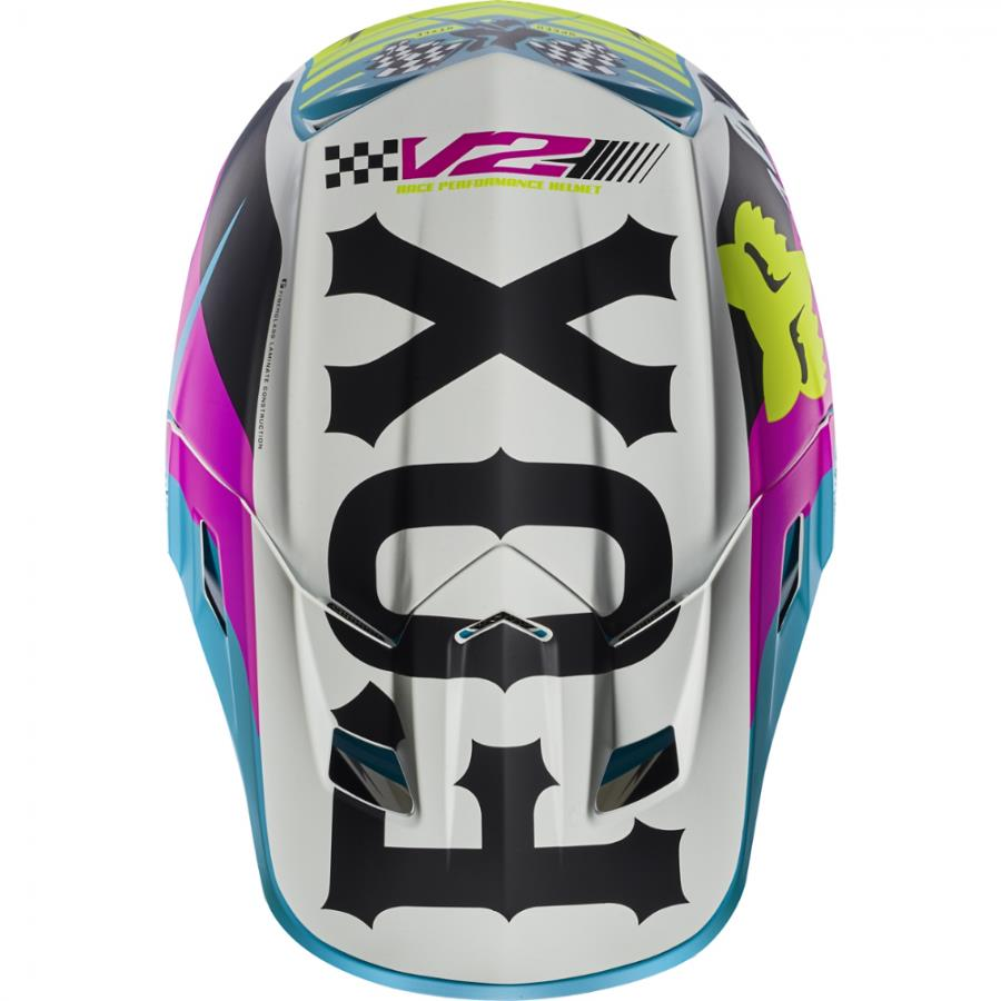 Fox - 2017 V2 Rohr козырек к шлему, зеленый
