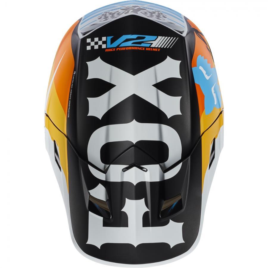 Fox - 2017 V2 Rohr козырек к шлему, белый