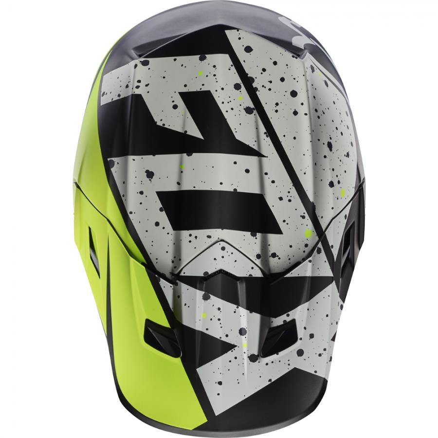 Fox - 2017 V2 Nirv козырек к шлему, серо-желтый