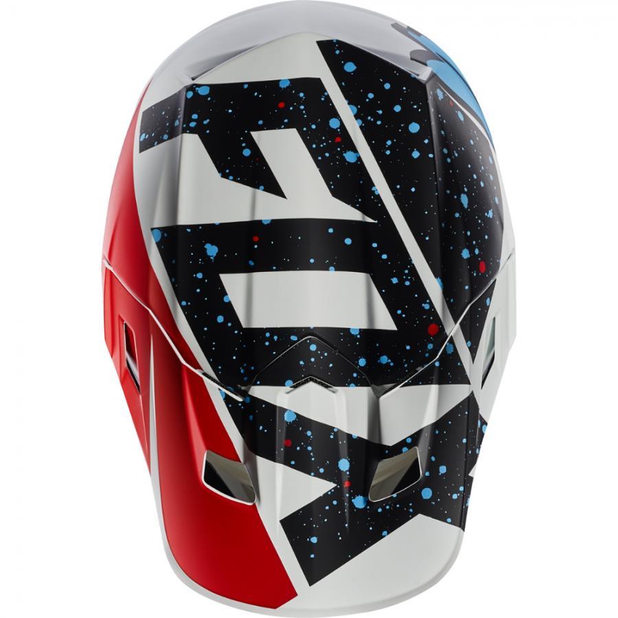 Fox - 2017 V2 Nirv козырек к шлему, красно-белый