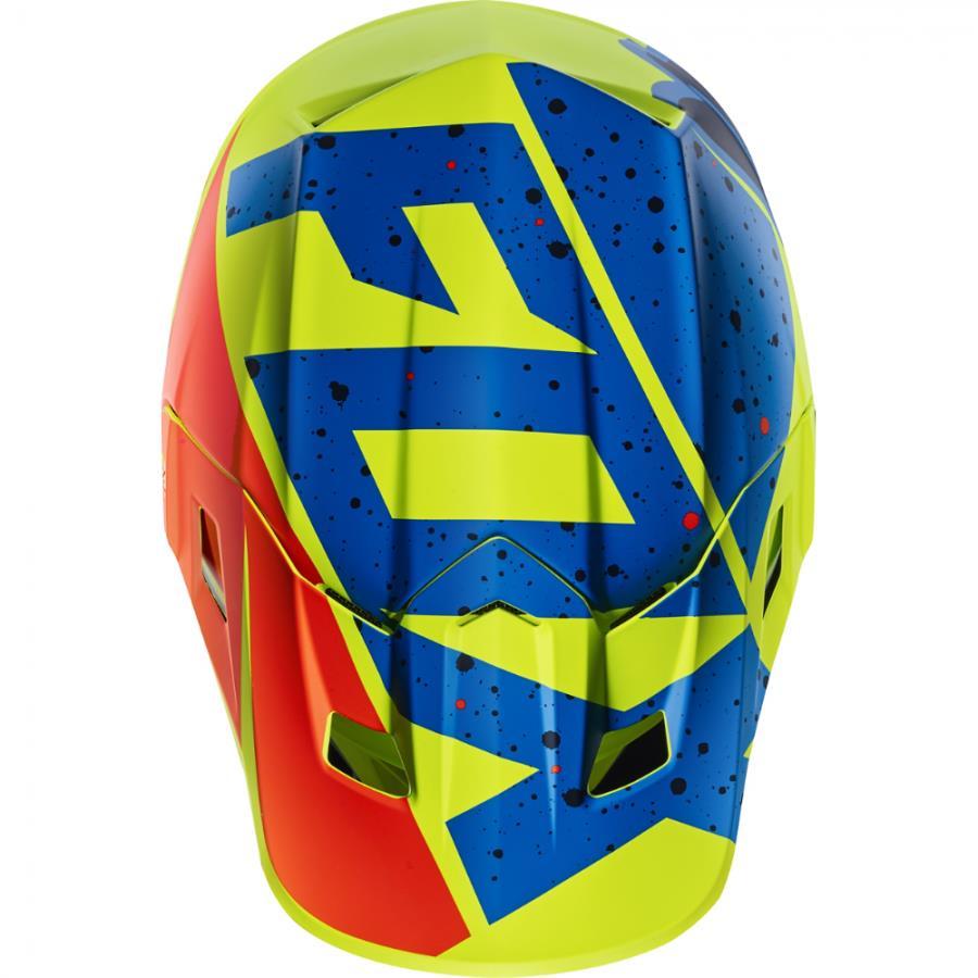 Fox - 2017 V2 Nirv козырек к шлему, желто-синий