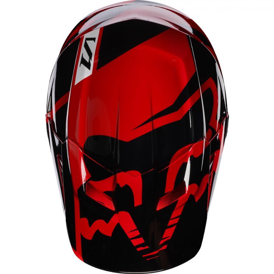 Fox V1 Race козырек к шлему, красный