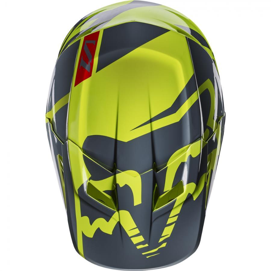 Fox V1 Race козырек к шлему, желтый