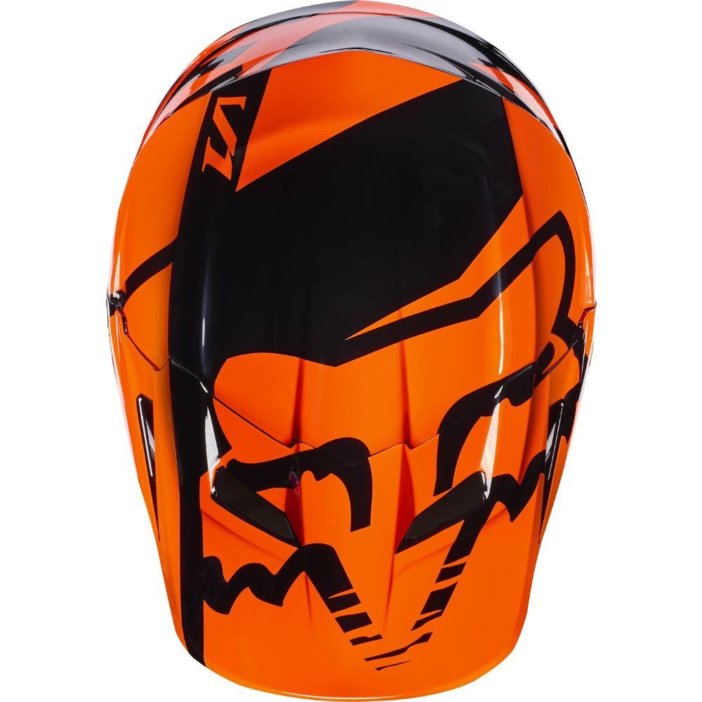 Fox - 2017 V1 Race Youth Helmet Visor козырек к шлему подростковому, оранжевый