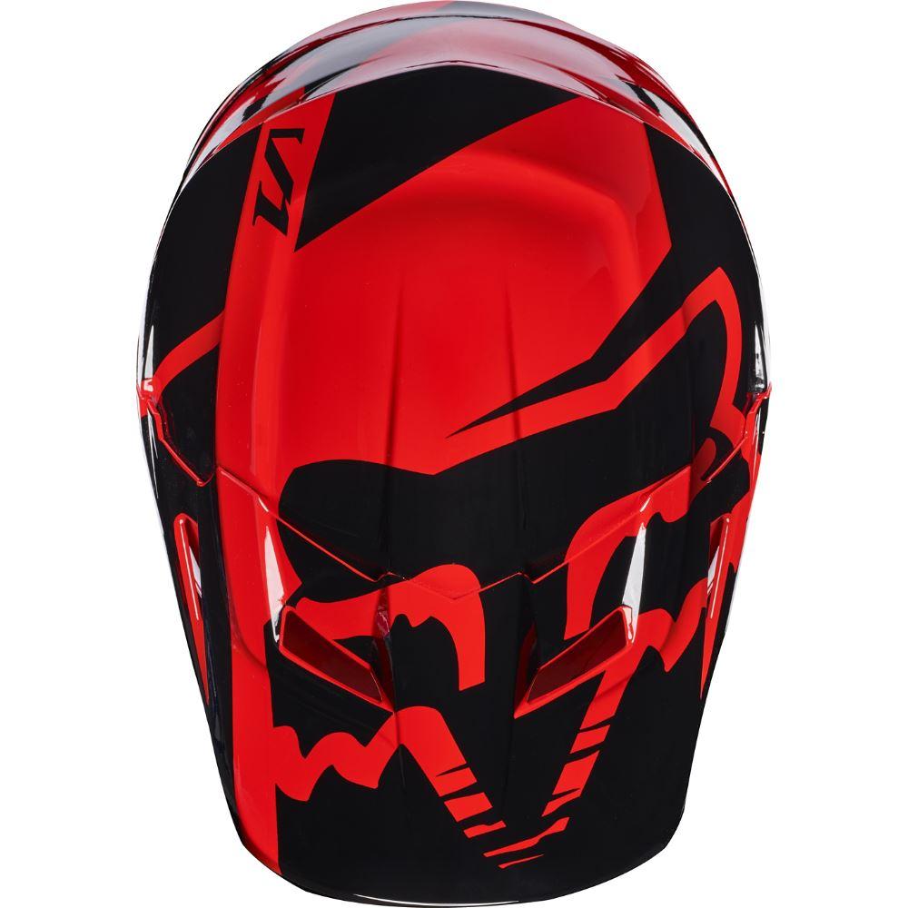 Fox V1 Race Youth Helmet Visor козырек к шлему подростковому, красный