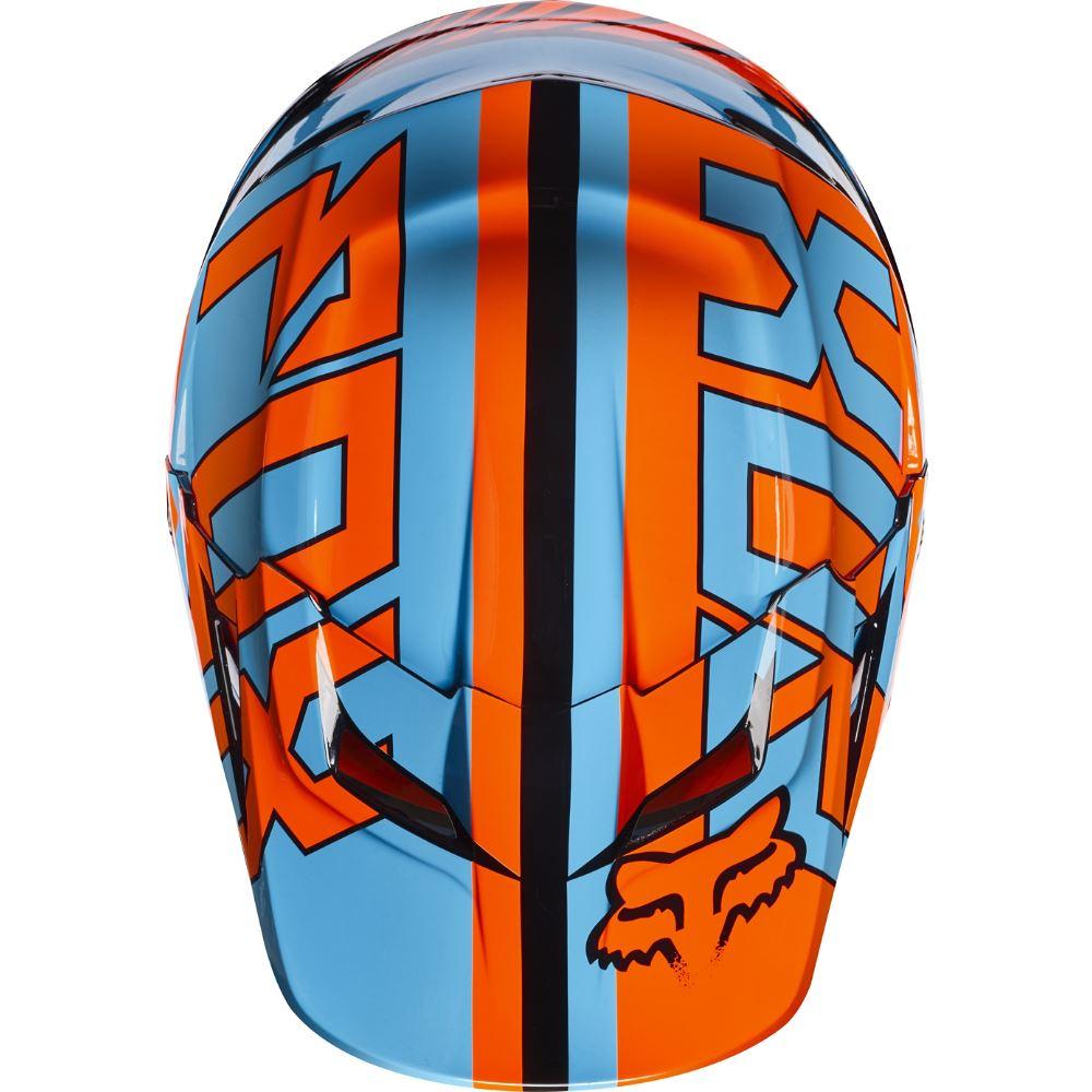 Fox V1 Falcon Youth Helmet Visor козырек к шлему подростковому, черно-оранжевый