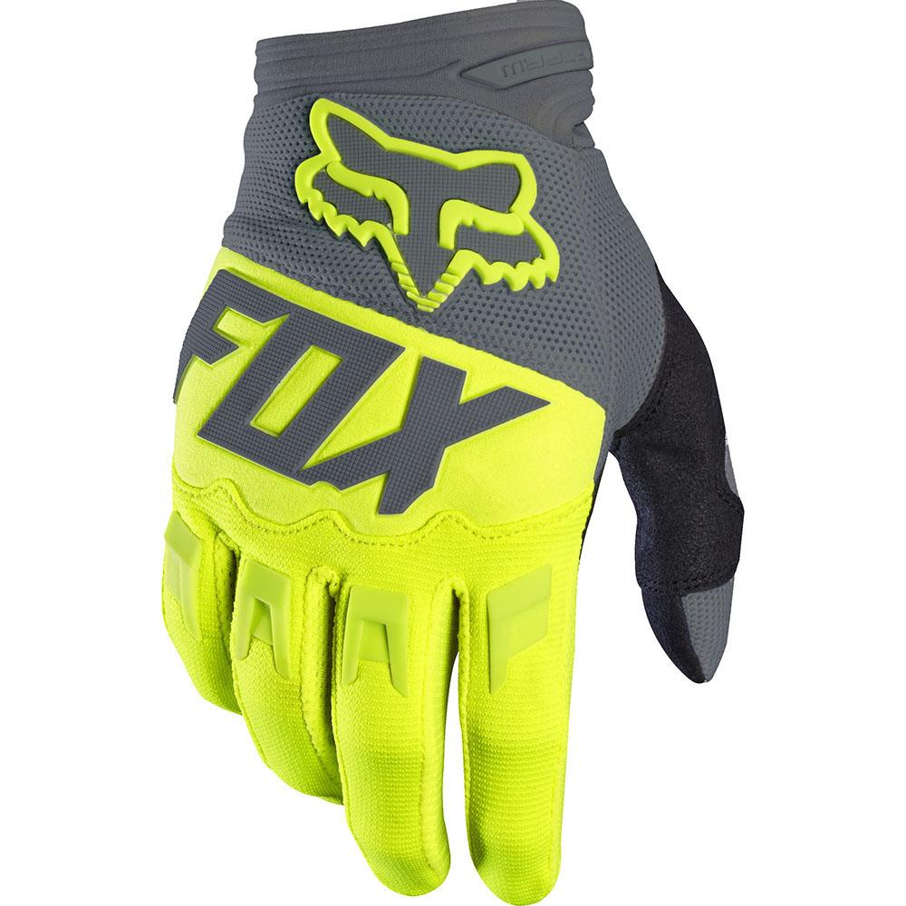 Fox - 2017 Dirtpaw Race перчатки, желтые