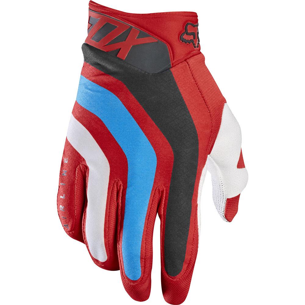 Fox Airline Seca перчатки, красные