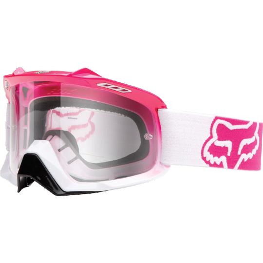 Fox - 2017 Air Space Fade Clear очки, розово-белые