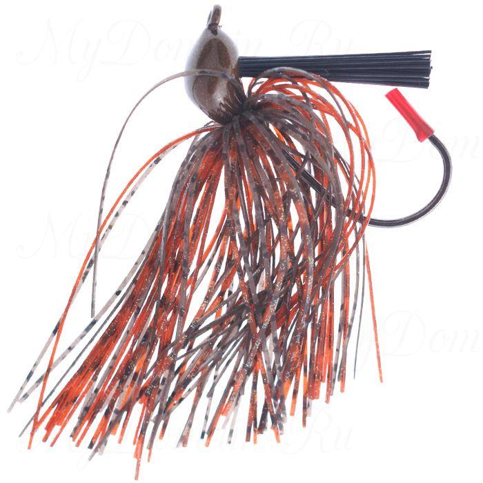 Джигголовка незацепляющаяся Reins G.I. Jig с резиновой юбкой, вес 7 г (1/4oz) 06 - Crayfish