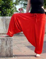 индийские красные штаны алладины (афгани) из вискозы, СПб. Мужские и женские