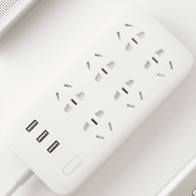 Удлинитель Xiaomi Mi Power Strip  (6 розеток + 3 USB-port) (Белый)
