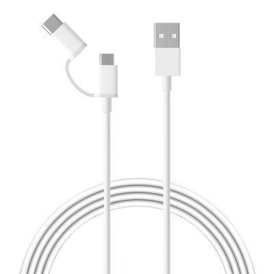 Кабель Xiaomi USB  на microUSB / Type-C 0.3 m. ( Белый)