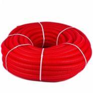 Труба гофр. двухсторонняя с протяжкой красная ф50 (50м)