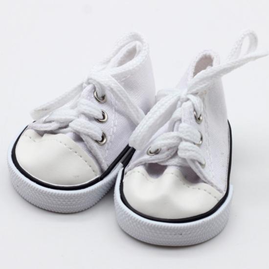 Обувь для кукол кеды, кроссовки 7 см - белые