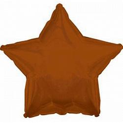 Звезда шоколадная шар фольгированный с гелием