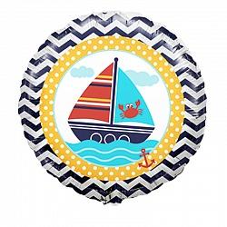 Кораблик шар фольгированный с гелием