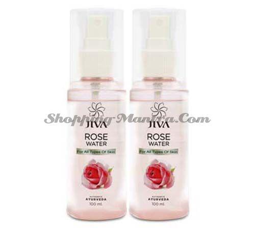 Тоник для лица Розовая вода Джива Аюрведа | Jiva Ayurveda Rose Water Plain