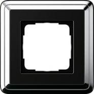 Gira ClassiX Хром/Черный Рамка 1-ая(0211642)