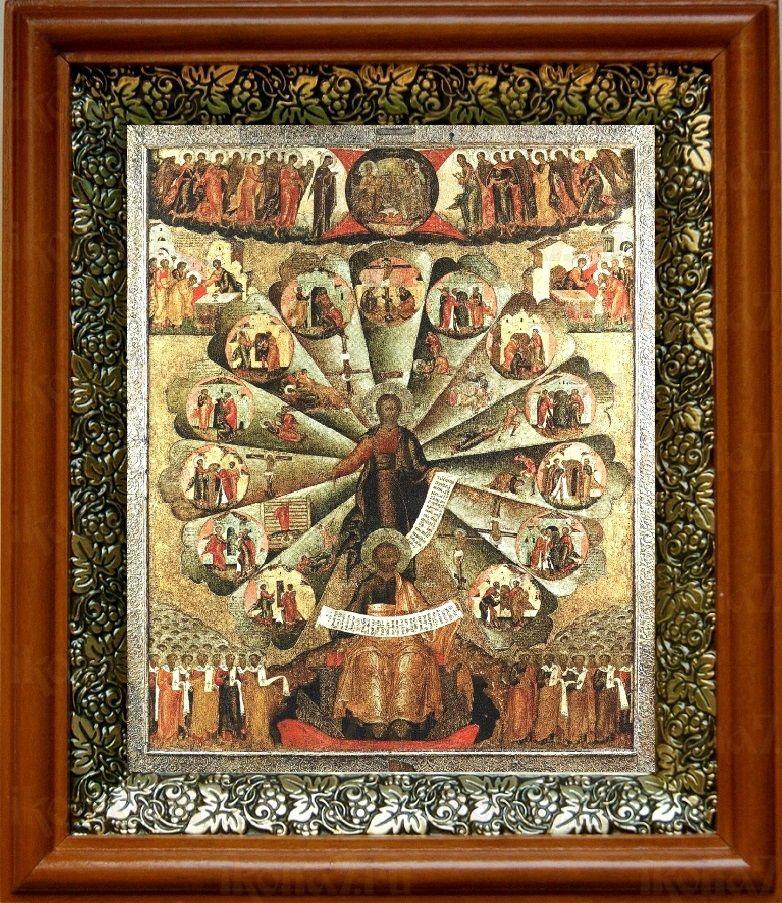 Апостольская проповедь (19х22), светлый киот