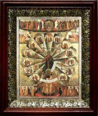 Апостольская проповедь (19х22), темный киот
