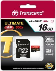 Карта памяти Transcend Premium microSDHC 16GB class 10 до 90MB/s